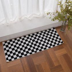 주방매트 블랙 체스