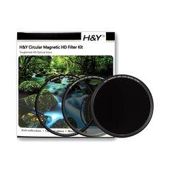 HNY HD MRC UV/CPL/ND1000 마그네틱필터 3종 KIT 82mm