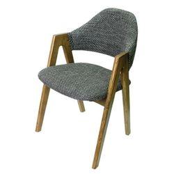 비올렛 목재 패브릭 의자