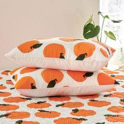 이너스 오렌지팝 시어서커 여름 베개커버 50x70