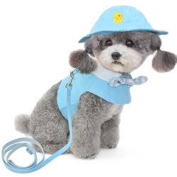 리본카라 강아지 옷 강아지 하네스(모자)