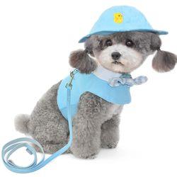 리본카라 강아지 옷 강아지 하네스(옷)