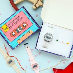 우주만큼 응원해 디지털 시계 + 비즈 팔찌 세트