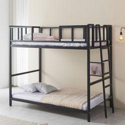 방이 좁아도 걱정 없는 철제 2층 침대 프레임 깔판
