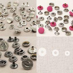 소잉데일리] 도트단추 컬러 무늬 금속 플라스틱 및 와샤 모음
