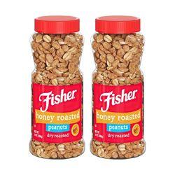 Fisher 피셔 허니 로스티드 기내 땅콩 396g 2팩