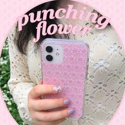 [뮤즈무드] punching flower (clear) 아이폰케이스