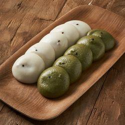 말랑쫀득 보름기정떡 백미 + 쑥 혼합 구성 33알  50알