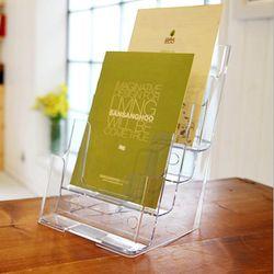 A5 리플렛 카다로그 팜플렛 거치대 신문 잡지 꽂이 4단 4600