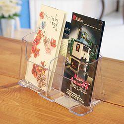 A6 리플렛 카다로그 팜플렛 거치대 신문 잡지 꽂이 1단 2면 4605