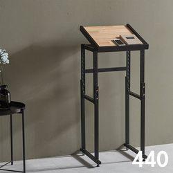 차 한 잔의 여유 철제 원목 테이블 440