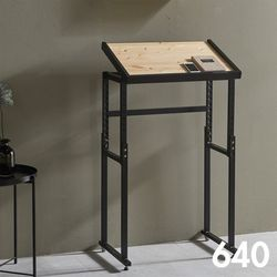 차 한 잔의 여유 철제 원목 테이블 640