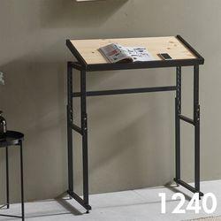 차 한 잔의 여유 철제 원목 테이블 1240