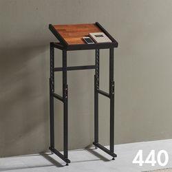 차 한 잔의 여유 철제 멀바우 원목 테이블 440