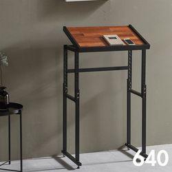 차 한 잔의 여유 철제 멀바우 원목 테이블 640