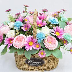 줄리엣 로즈 바스켓 -조화 꽃바구니 생일 기념일 승진 축하