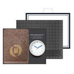 송월 타올시계선물세트(메이저150g 1p + 욕실시계 1p)+쇼핑백