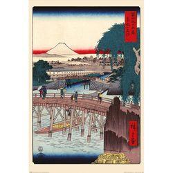 PP34595 히로시게-수도 서부의 이치고쿠 다리 포스터