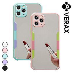 아이폰8 컬러라인 범퍼 거울 미러 하드 케이스 P607