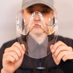 입보이는 방수 투명 마스크 페이스쉴드