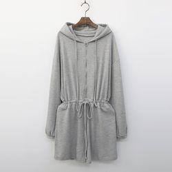 Hooded Wa Shorts Jumpsuit