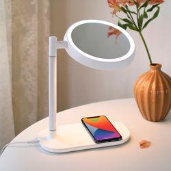 무아스 무선충전 LED 거울 멀티 무드등