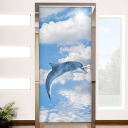 pr015-맑은하늘과돌고래현관문시트지
