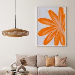 인테리어 액자 오렌지 플라워 orange flower 메탈 대형