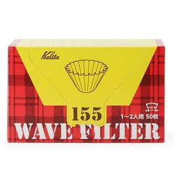 칼리타 KWF-155 웨이브 필터 화이트 50매