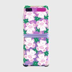 FLOWER BABA-PINKGREEN(Z플립-클리어하드)