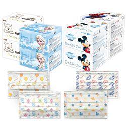 디즈니 덴탈형 마스크 30매x2박스 미키 겨울왕국 푸우