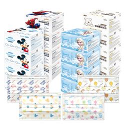 디즈니 덴탈형 마스크 30매x4박스 미키 겨울왕국 푸우
