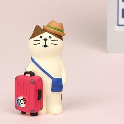 concombre 여행가방 고양이