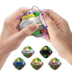 메탈 핑거 매직 볼 큐브 퍼즐 스피너 무지개 피젯토이