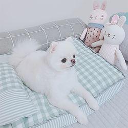 로마펫 강아지 매트 고양이 쿠션 방석 체크 침대
