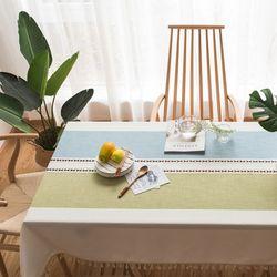 러빙랩 모던 라인 식탁보 테슬장식 테이블보 100x140cm