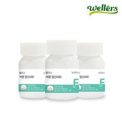 [웰러스] 바른 엽산 60정 3병 아연 엽산제 임산부 영양제