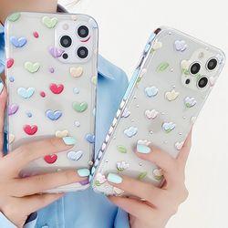 아이폰 x max se2 7 8 미니 패턴 반투명 젤리 케이스