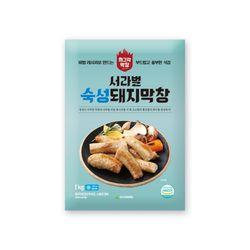 서라벌푸드 숙성 돼지막창 1kg 수입산 + 막창장120g