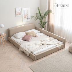 코지 레이어 은은한 LED조명 저상형 침대 2colors 퀸(Q)