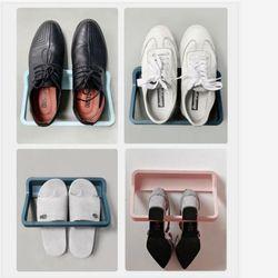 무타공 신발 걸이 정리 화장실 용품 수납