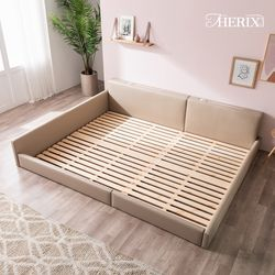 저상형 침대 전용 삼나무 원목깔판 (Q+Q)