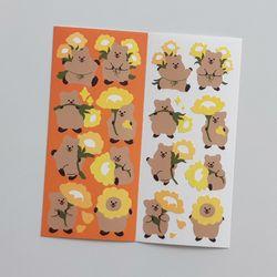 영이의숲 왕꽃카 씰스티커