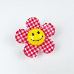 체크무늬 데이지 꽃 거치대 스마트톡