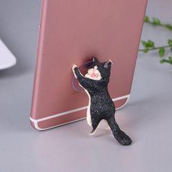 귀엽고 사랑스러운 고양이 핸드폰 거치대 빨판스탠드