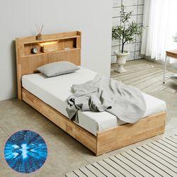 [파로마]펠드 원목 LED 슈퍼싱글 침대+기본매트