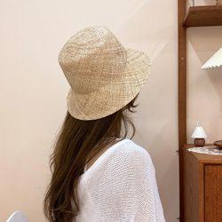 고급 천연 베이직 여름 밀짚 모자 페도라 파나마햇 바우햇