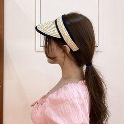 간편 밀짚 썬캡 모자 자외선차단 여성 엄마 유아동 선캡
