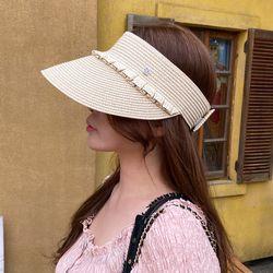 캉캉 여름 자외선차단 밀짚 돌돌이 썬캡 모자