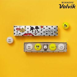 디즈니 미키마우스 컬러골프공 볼마커세트 4구 선물용